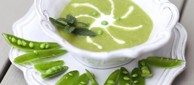 April Recipe: Spring Pea & Mint Soup