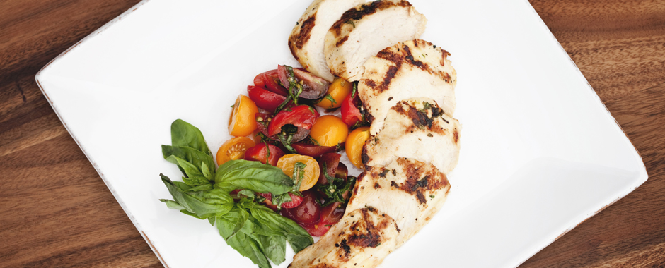 Grilled Chicken with Heirloom Tomato Salsa