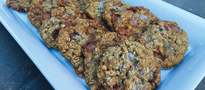Salty Caramel & Pecan Oatmeal Cookies