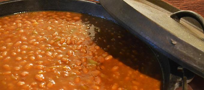 Peach BBQ Baked Beans