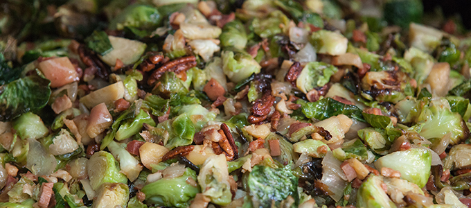 Roasted Brussels Sprouts, Pancetta & Apples