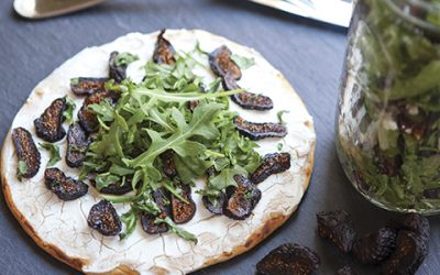 Fig & Goat Cheese Salad / Flatbread
